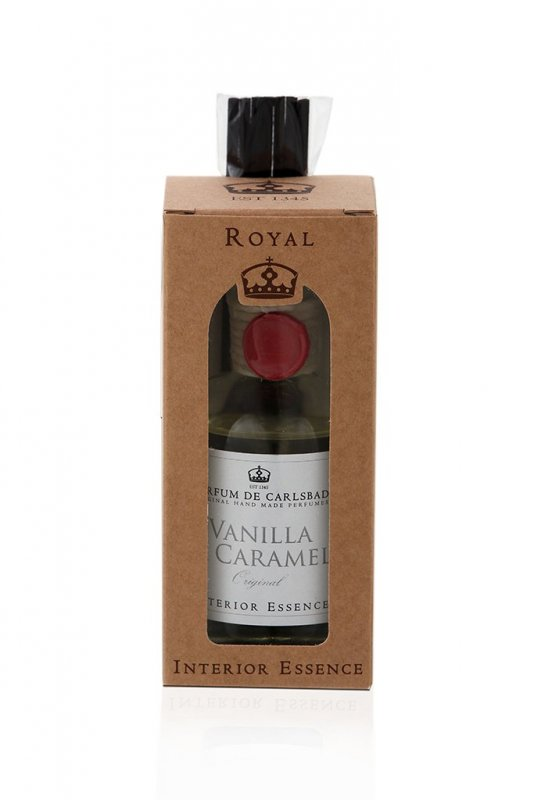 Interiérová esence VANILLA AND CARAMEL 50 ml - Čirý flakon