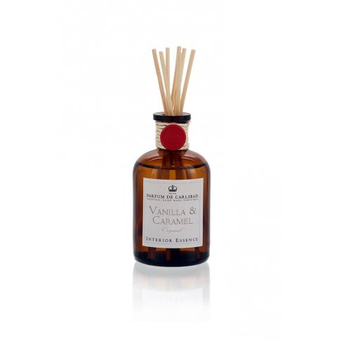Interiérová esence VANILLA AND CARAMEL 50 ml - Hnědý flakon